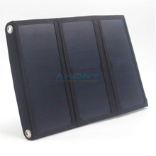 eMobi F21w folding solar charger dual USB for powerbank portable solar small size mobile charger